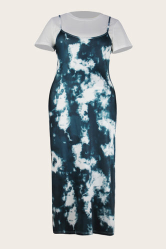 back_Thelma Eve Blue Tie Dye Plus Set