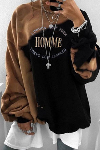 back_Ena Edith Brown And Black Sweatshirt