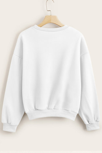back_Zona White Sweatshirt