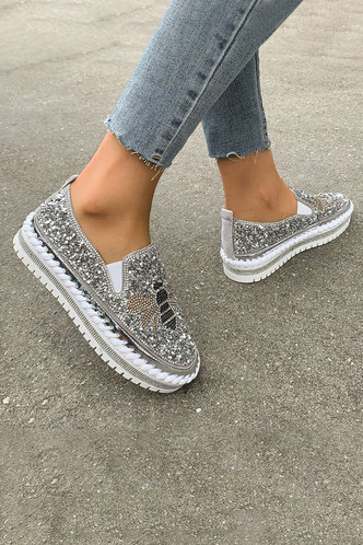 back_Nana Erin Silver Canvas Shoes