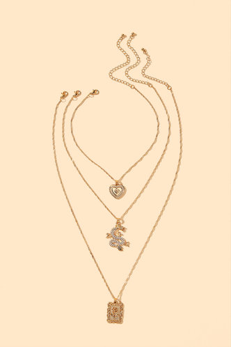 back_Mamie Edith Gold Layared Necklace