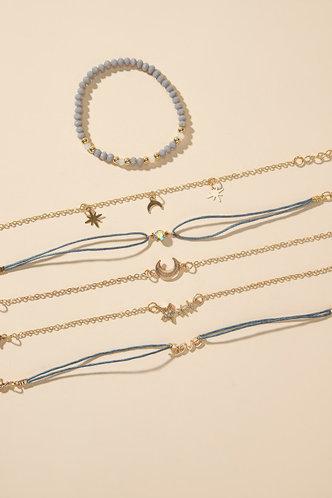 back_Mona Edith Gold Star & Moon Assorted Bracelet Set 6pcs