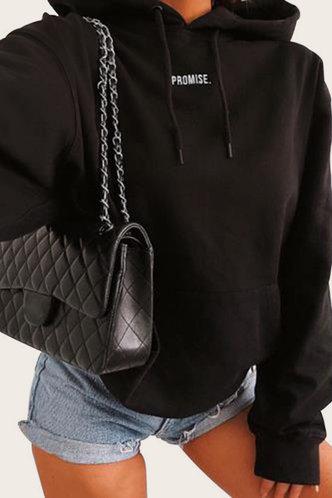 back_Hulda Eunice Black Sweatshirt & Hoody