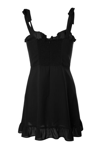 back_Miami Magic Black Mini Dress