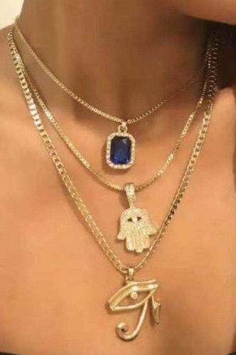 front_Fanny Kovert Gold Necklace 3pcs