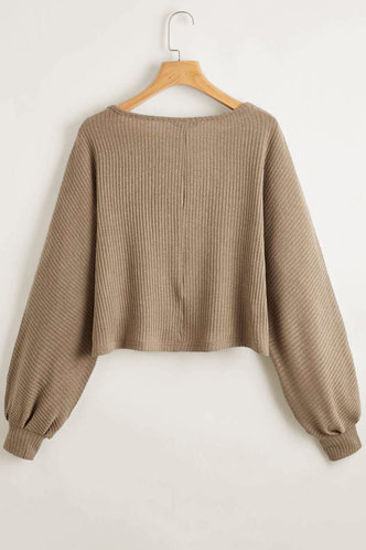 back_Ailey Gold and Teal Coffee Brown Sweater