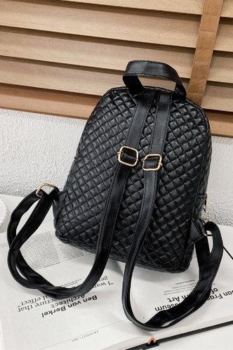 back_Queena Eudora Black Bagpack