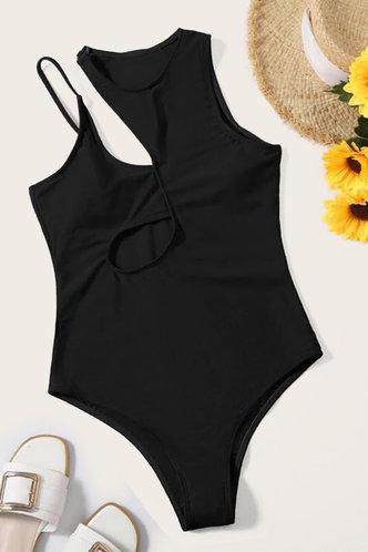 back_Norma Elizabeth Black One-Piece Swimsuit