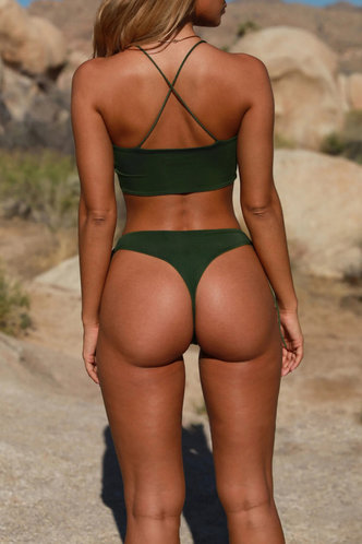 back_Lee Edith Dark Green Bikini