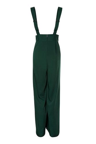 back_Go For A Ride Dark Green Suspender Pants