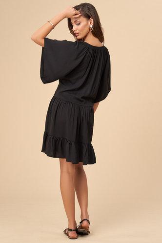 back_Beach Vibes Black Mini Dress