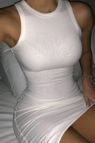 front_Eunice Glaving White Bodycon Dress