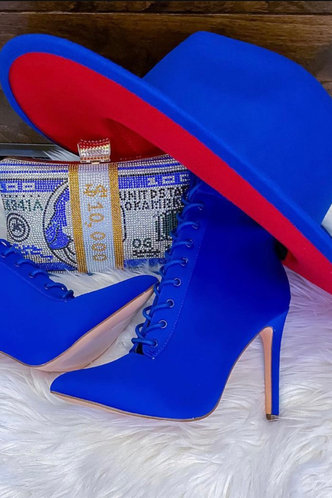front_Casual Sporty Royal Blue Hats & Gloves
