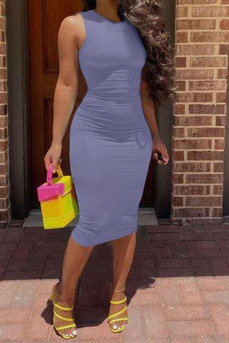 front_Jacquetta Eleanore Purple Bodycon Tank Dress