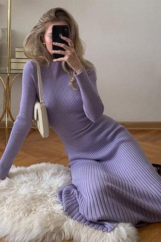 front_Abelard Dusty Blue Dress