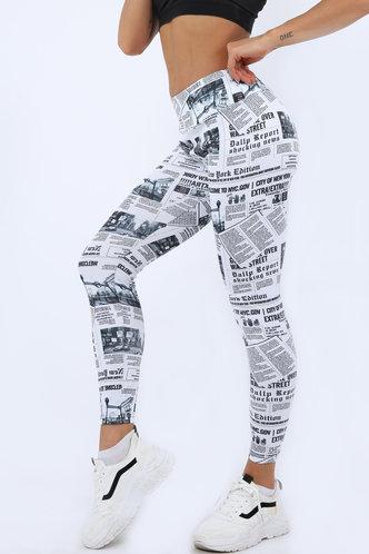 front_Diamond Eden Graphic Print Leggings