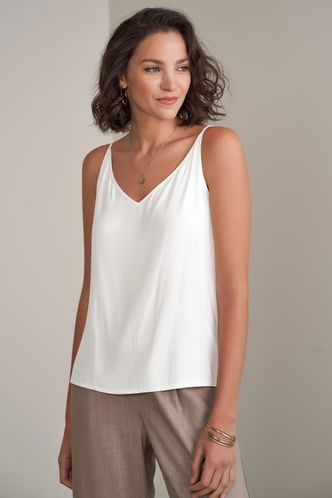 front_Something True White Tank Top