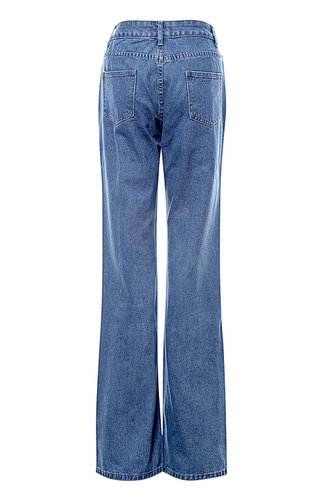 back_Check It Out Blue Baggy Jeans