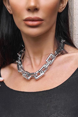 front_Alberta Elma Silver Chain Necklace
