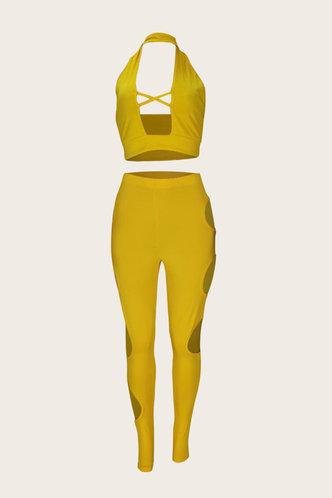 back_Ailie Elva Yellow Pants Set
