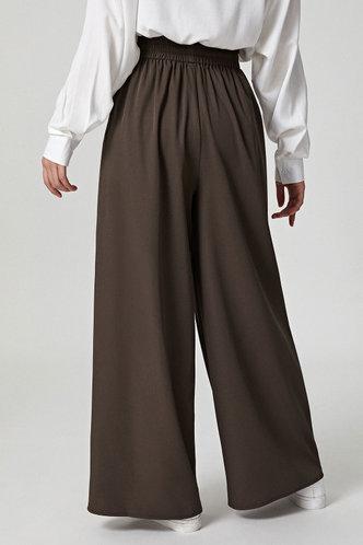 back_Jamilah Brown Wide Leg Pants