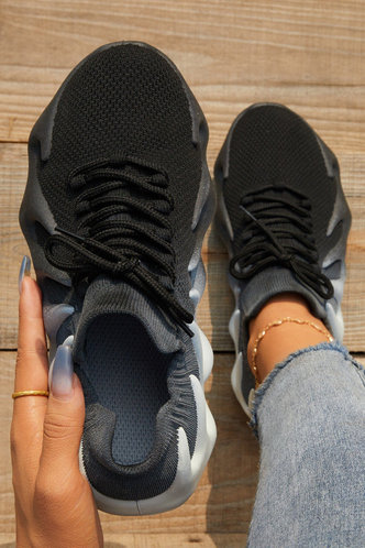 front_Holly Erin Black Sneakers