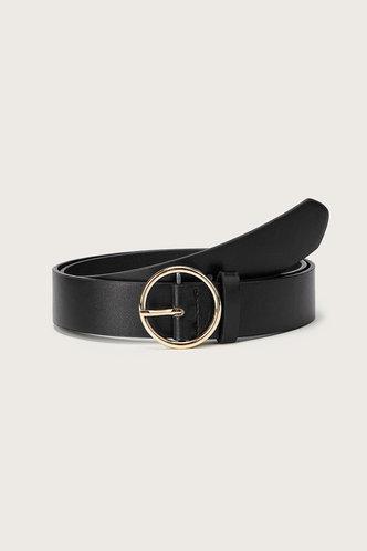 front_Tessa Elsie Black O-ring Buckle Belt