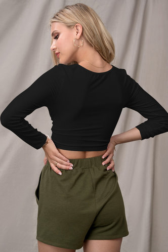 back_Confidence Is Key {Color} Long Sleeve Top