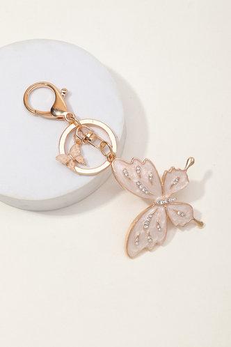 back_Magnolia Elvira Gold Butterfly Charm Keychain