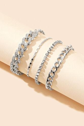back_Marianne Emily Silver Chain Bracelet 4pcs