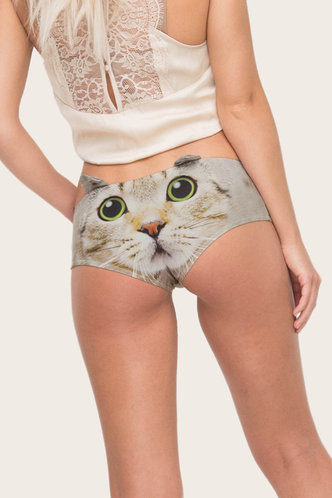 front_Almond Eartha Cat Print Panty
