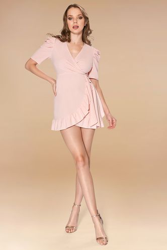 front_By Your Side Pink Mini Dress