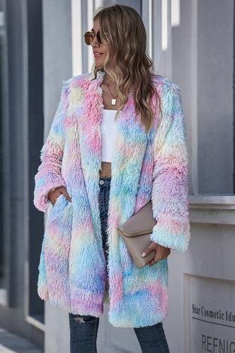front_Ellie Multicolor Longline Coat
