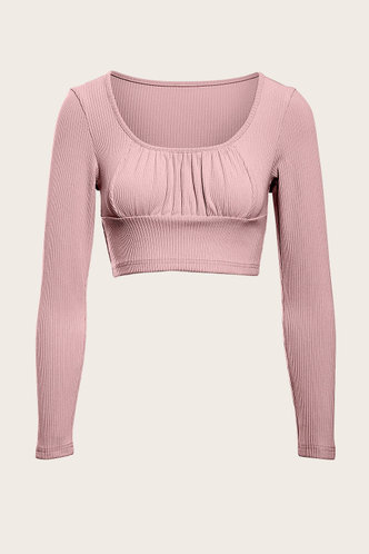 front_Better Together Dusty Pink Crop Top