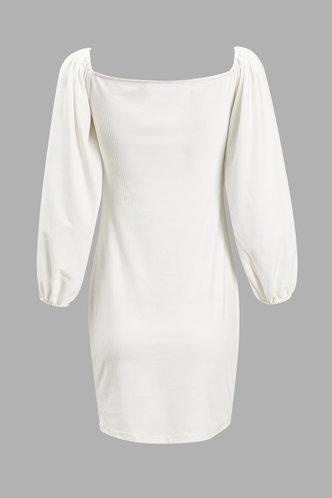 back_Agatha Eden White Ruched Dress