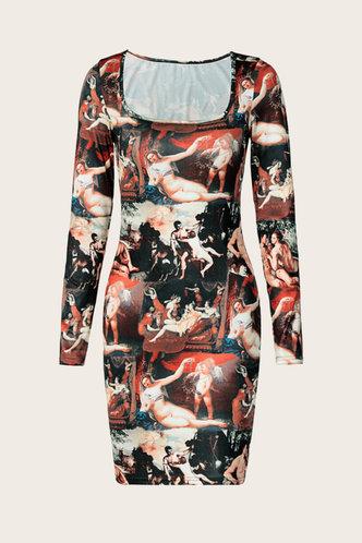 back_Yedda Eartha Graphic Print Bodycon Dress