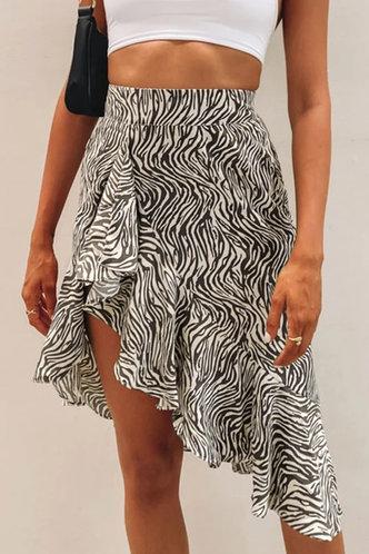 front_Henrietta Eleanore Zebra Striped Skirt