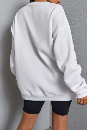 back_Bess Elaine White Sweatshirt