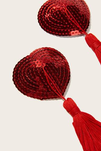 back_Annabella Edwina Red Tassel Charm Sequin Nipple Cover 1pair