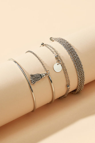 back_Maisie Elsa Sliver Bracelet 4pcs