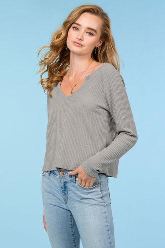 back_Minimalist Grey Sweater Top