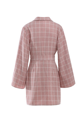 back_Beauty And The Beat Dusty Pink Shirt Dress