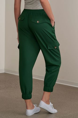 back_Enthusiastic Dark Emerald Joggers