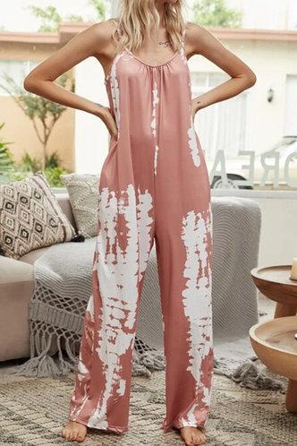 front_Kelley Erica Pink Tie Dye Jumpsuit
