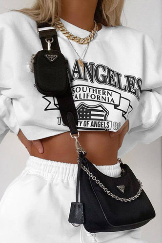 front_Marge Eileen White Crop Sweatshirt