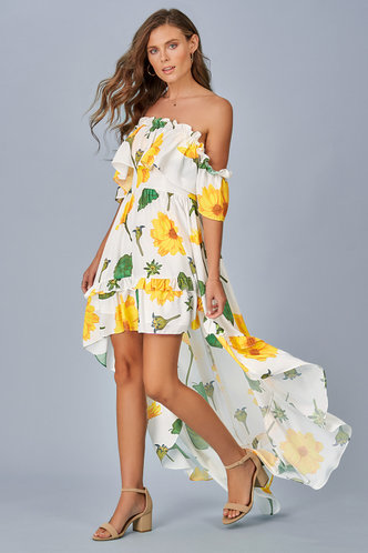 front_In Bloom {Color} Midi Dress