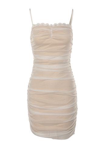 back_Illusions White Bodycon Dress