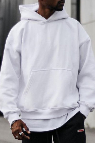 back_Street Graphic White Men Sweatshirts & Hoodies
