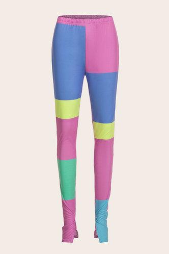 back_Ainslie Eleanore Pink Colorblock Activewear Bottom