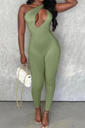 back_Grace Herb Green Jumpsuit